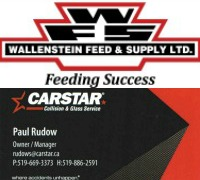 Wallenstein Feed & Rudow's Carstar